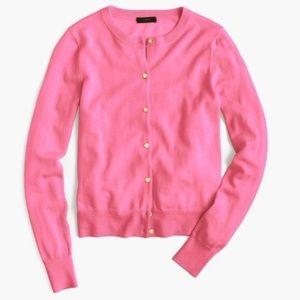 NWOT J. Crew Jackie Cardigan Hot Pink Merino Wool